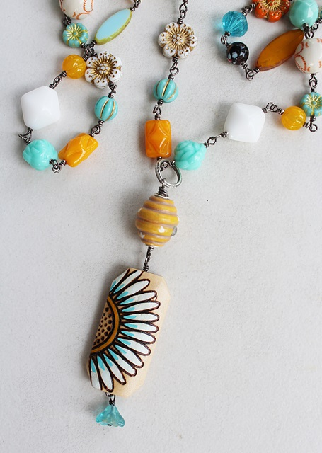 Sunflower Summer Necklace