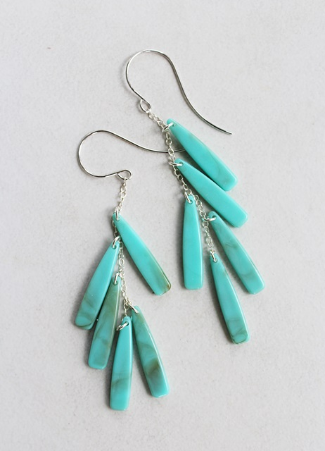 Vintage Lucite Dangle Earrings - The Windsong Earrings