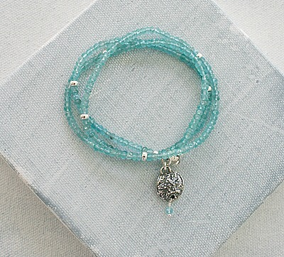 Apatite Convertible Necklace or Bracelet - The Seafarer Bracelet/Necklace