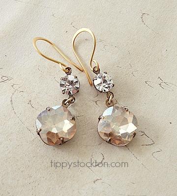 JEWEL Vintage Glass Sparkler Earrings - The Carrie Earrings