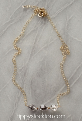 Herkimer Diamond Trio Short Necklace - The Cortland Necklace