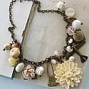 Market Day Trinket Necklace - Cream and Peach (Neutral)