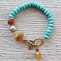 Turquoise, Sunstone, Citrine and Carnelian Bracelet - The Carly Bracelet