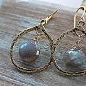 Labradorite Hoop Earrings - The Gaelynn Earrings