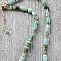 Jade, Green Opal, Amazonite and Glass Necklace - The Aspen Necklace