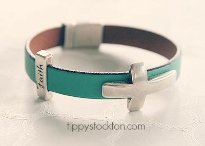 Leather and Cross Bracelet - The Faith Bracelet