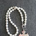 Fresh Water Pearl and Sterling Cross Lariat Necklace - The Faith Necklace
