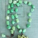 Vintage Green Brooch and Magnesite Necklace OOAK - The Ainsley Necklace