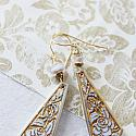 Vintage West German Glass Etched Earrings - The Gisele Earrings