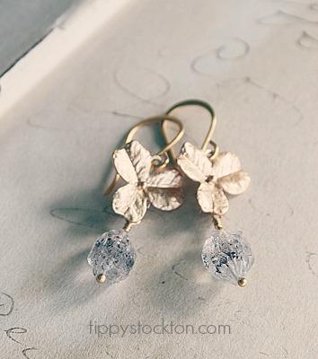 Orchid Herkimer Diamond Drop Earrings - The Cortland Fleur Earrings