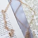 Snow Quartz Ladder Necklace - The Trisha Necklace