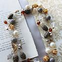 Mixed Gem and Vintage Glass Necklace - The Hana Necklace