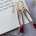 Mixed Metal and Swarovski Dangle Earrings - The Tara Earrings