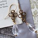 Vintage Glass and Chain Earrings - The Selena Earrings