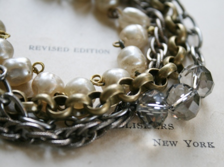 The Calista Bracelet-bracelet, layers, vintage brass, vintage pearls, faceted glass, chunky, stunning, feminine, wholesale, tippy stockton