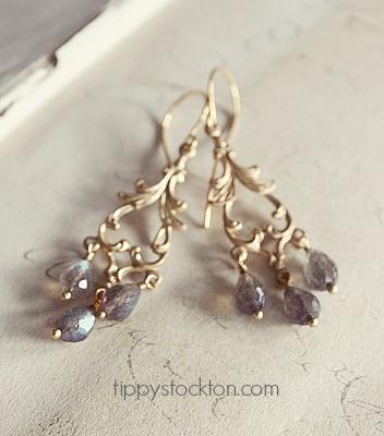 Labradorite Chandelier  Earrings - The Evan Earrings