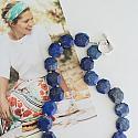 Lapis Octagon Necklace - The Daria Necklace