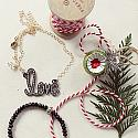 Rhinestone and Gold Love Necklace - The Love Necklace
