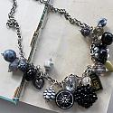 Market Day Trinket Necklace - Black and Gray