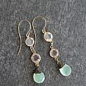 Sea Green Chalcedony Earrings - The Elia Earrings