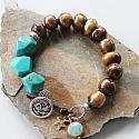 Fresh Water Pearl and Chunky Turquoise Bracelet - The Tucson Bracelet