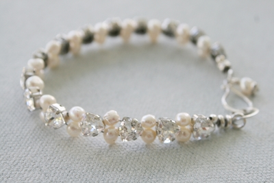 Petite Swarovski and Pearl Bracelet - The Joy Bracelet