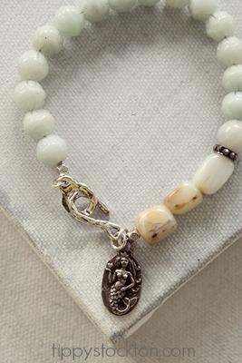 Amazonite and Peruvian Opal Mermaid Bracelet - The Love Bravely Bracelet