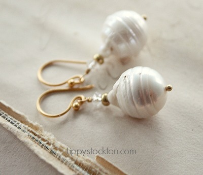 Fresh Water Baroque Pearl Earrings - The Esther Earrings