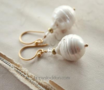 Fresh Water Baroque Pearl Earrings - The Esther Earrings