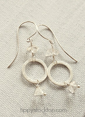 Clear Quartz Nuggets on Sterling Silver - The Jolene Earrings