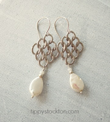 Fresh Water Pearl and Sterling Earrings - The Larissa Earrings