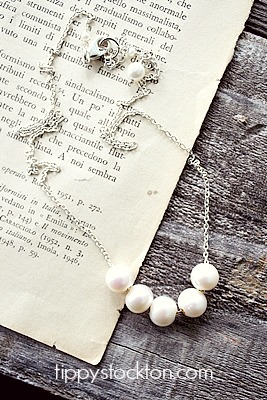 Fresh Water Pearl & Sterling Silver Necklace - The Lissa Necklace