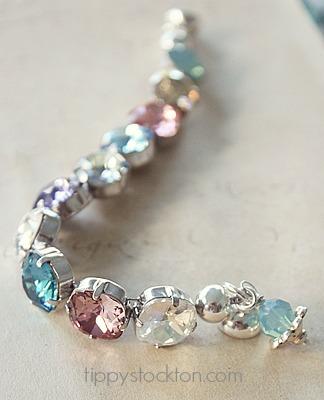 Mixed Swarovski Cushion Cut Stone Bracelets - The Miranda Bracelet