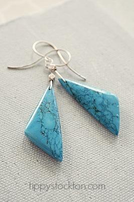 Howlite Stone Earrings -  The Morgan Earrings