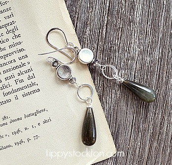 Labradorite Drops with Sterling Silver - The Tess Earrings