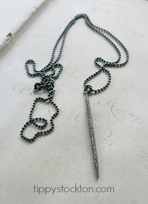 Diamond Pave on Sterling Silver Ball Chain - The Waldorf Necklace
