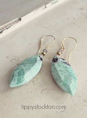 Turquoise Marquis  Shaped Earrings - The Taylor Earrings