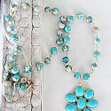 Aqua Terra Jasper and Turquoise Pendant Necklace - The Desert Daisy Necklace