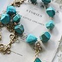 Turquoise and Sea Sediment Necklace