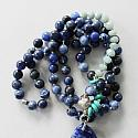 Sodalite Turquoise Aquamarine Knotted Necklace - The Lucy Necklace