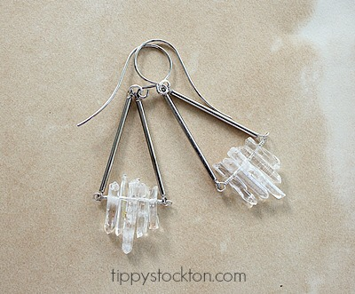 Clear Quartz and Gold or Silver - The Danielle Earrings -